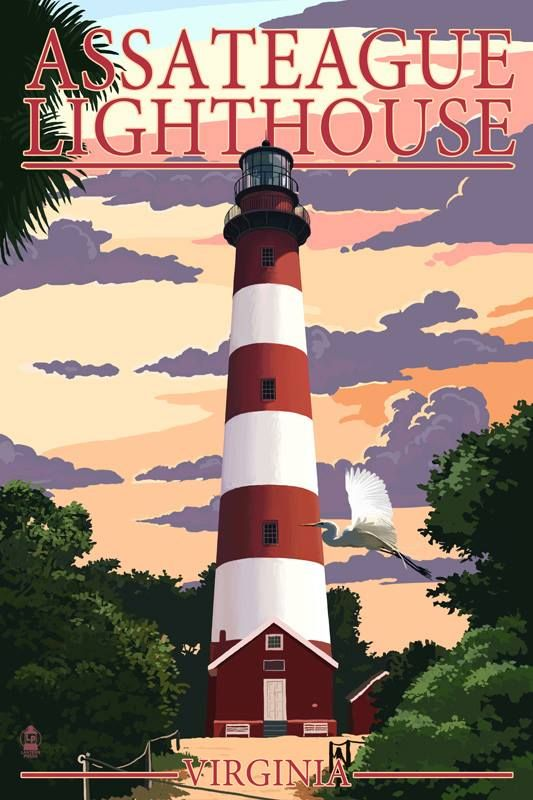 Assateague Lighthouse Virginia (Lantern Press)