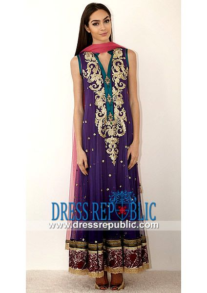 Pakistani Party wear Clothes by Designer Zara Shahjahan Dark ...