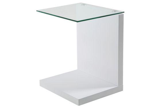 Beistelltisch Jupitus weiss Glastisch Wohnzimmertisch Würfeltisch by Scandy - Kaufen bei DeWall Design GmbH & Co.KG