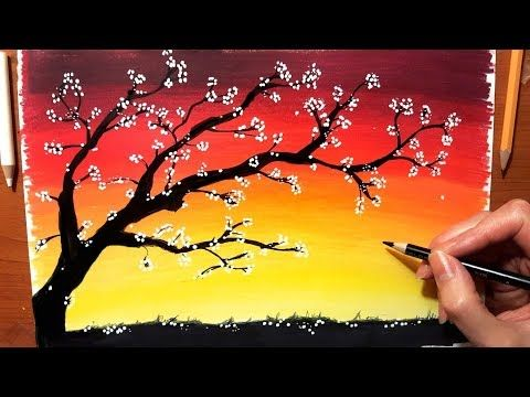 Landscape In Colored Pencil How To Draw Sunset Drawing Nature Tree Sky Scenery Jasmina Susak Youtub Nature Drawing Colorful Drawings Pencil Drawing Images
