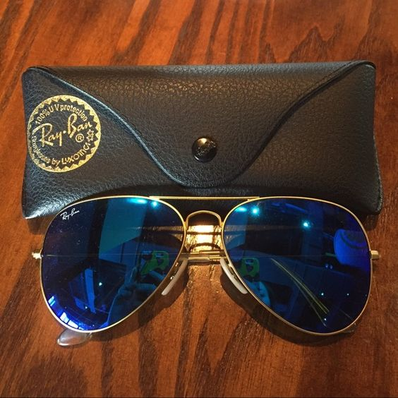 used ray ban aviator sunglasses for sale  nwot authentic ray ban aviator authentic ray ban aviators ! never used comes with black case