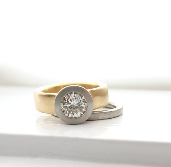 I lust this ring SO BAD!!  950 palladium and 18kt yellow gold dual tone by singleBbeautiful, $1930.00