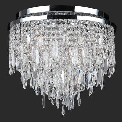 Worldwide Lighting Tempest 5 Light Flush Mount
