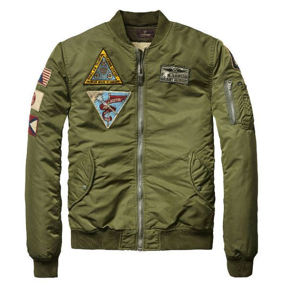 Retro Army Green Bomber Jacket by Scotch and Soda | Sodas, Classic ...