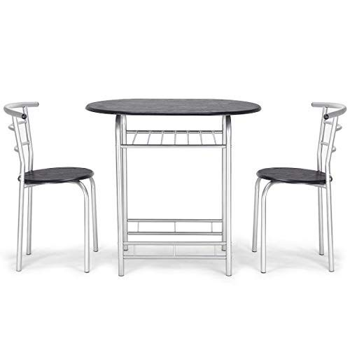 Ak Energy 3pc Office Cafeteria Set Table And 2 Chairs Canteen