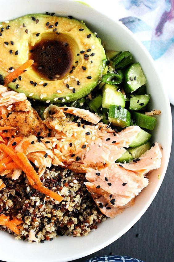 Salmon Poke Bowl with Quinoa