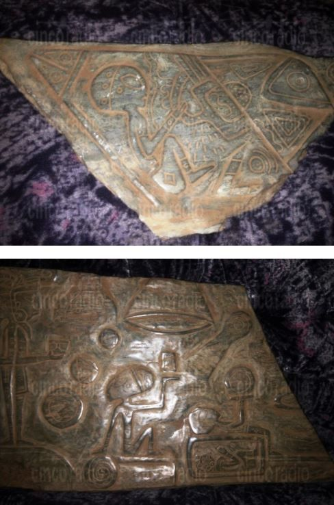 """Sensacional descoberta no México! Encontradas em uma caverna as """"pedras da primeira reunião"""" entre extraterrestres e os maias."""