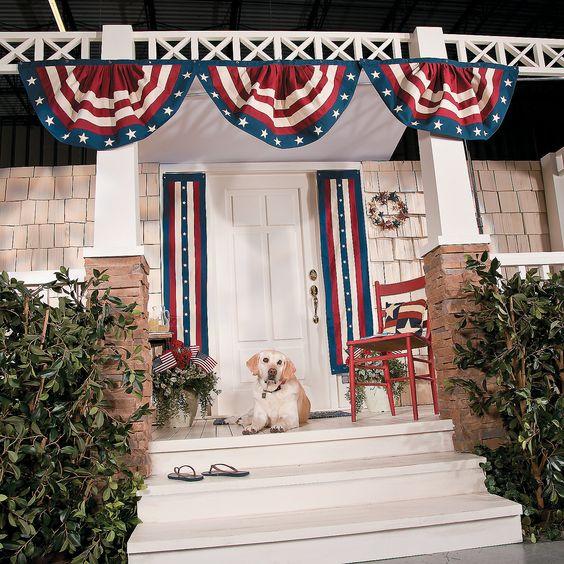 Americana Porch Scene - TerrysVillage.com