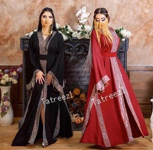 Dernier Design Dubai Abaya Caftan Farasha maxi dress Abaya Hijab {Écharpe}