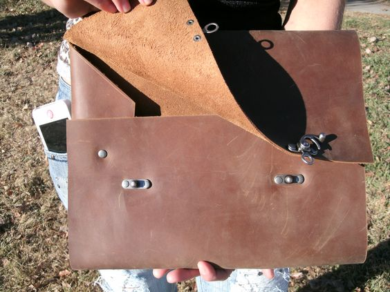Distressed leather Portfolio Case!!! - Hand Crafted High Quality - leather resume portfolio