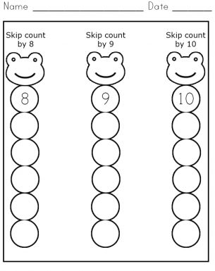 Skip Count 8-10 Worksheet - Great for #classicalconversations ...