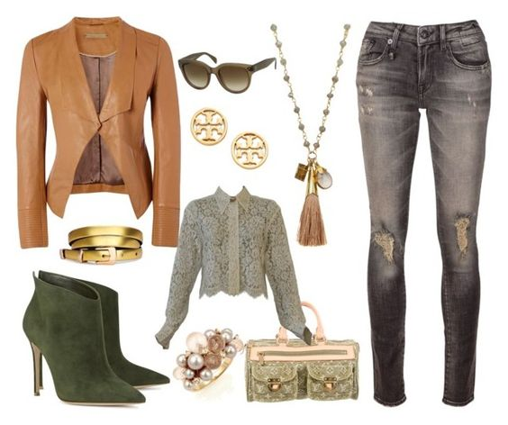 """""""Olive Me"""" by creativelycandice on Polyvore featuring Gianvito Rossi, CÉLINE, Richards Radcliffe, Louis Vuitton, R13, Versace, Tory Burch, Mimí, women's clothing and women"""