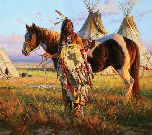 Native American Horses   Native American with Horse