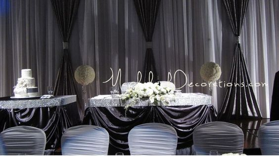 Modern Wedding Head Table