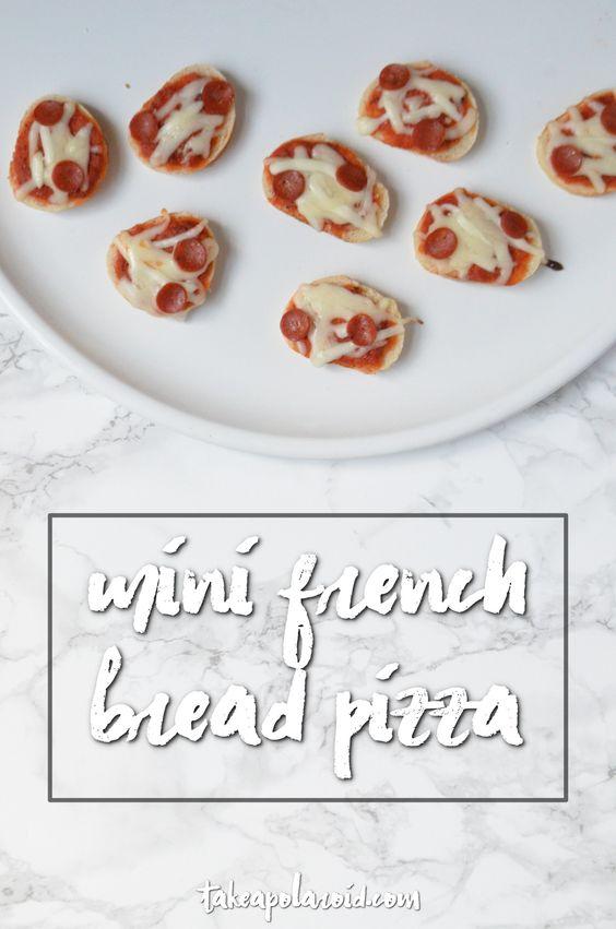 Take A Polaroid - Mini French Bread Pizza - Take A Polaroid