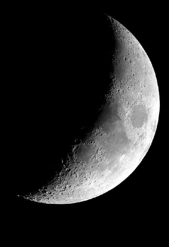 Croissant De Lune Du 6 Mars 2014 Moon Stars Art Moon Pictures Moon Art