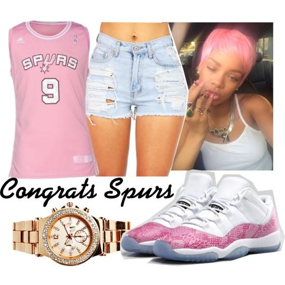 Congrats Spurs!, created by fashionablythick on Polyvore