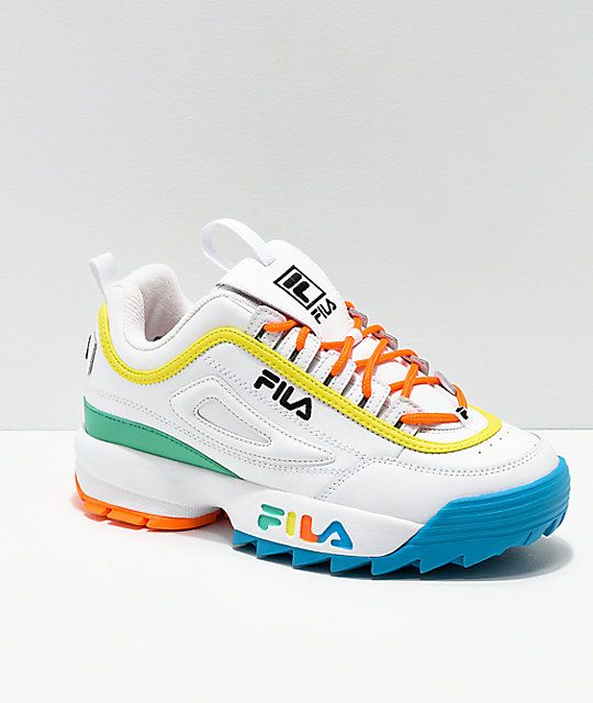 FILA Disruptor Multicolor & White Shoes | Shoes in 2019 ...