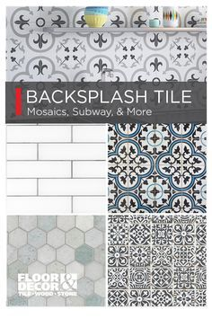 Update Your Backsplash With New Color Shapes And Styles Of Tile From Floor Decor Kitchen Cabinets Makeover Diy