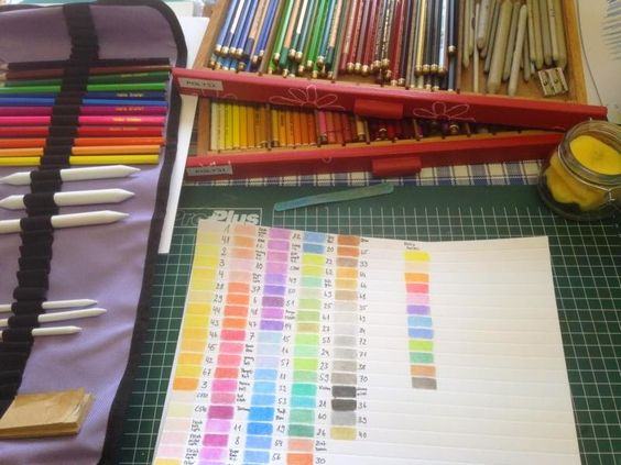Carmen'S kleine Welt: Farbtabelle für meine Stifte