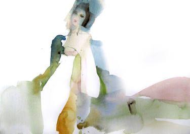 "Saatchi Art Artist Sylvia Baldeva; Painting, ""Tender - watercolor"" #art"