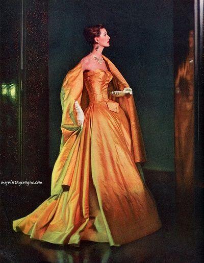1957 vestido de noche