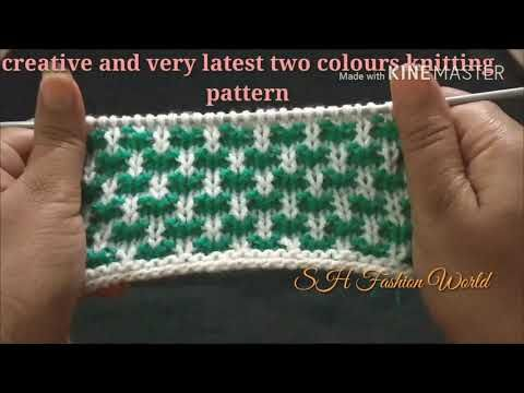 Creative And Very Latest Two Colours Knitting Design For All In