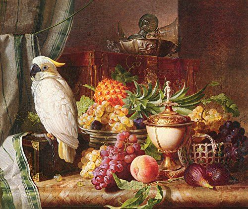 Still Life with Fruit and a Cockatoo by Josef Schuster - ... https://www.amazon.com/dp/B0178BEJZA/ref=cm_sw_r_pi_dp_x_HQc5xbS2HVPAG