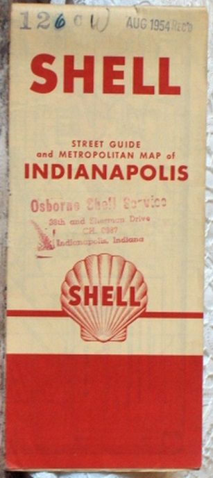 http://ajunkeeshoppe.blogspot.com/  ROAD MAP 1954 Shell Indianapolis City Street Guide And Metropolitan Area