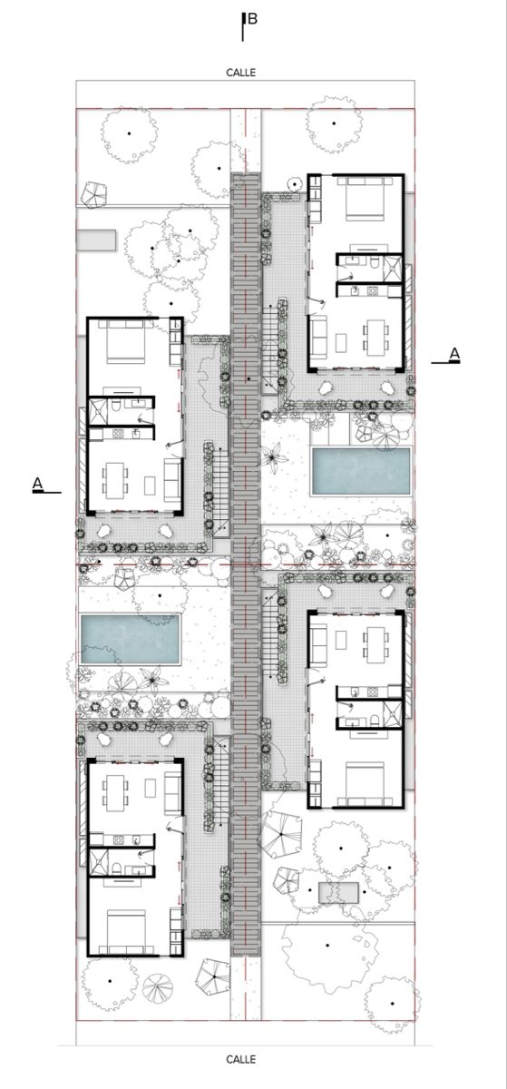 Studio Arquitectos Creates Holiday Home Like Apartments For Tulum S Permanent Residents Hotel Floor Plan Tiny House Floor Plans Apartment Plans