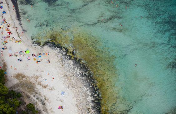 Son Saura Beach on the Spanish island of Menorca.
