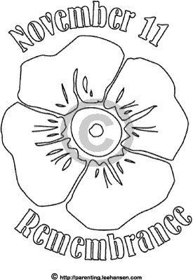 Poppies remembrance day and remembrance day poppy on for Poppy coloring page