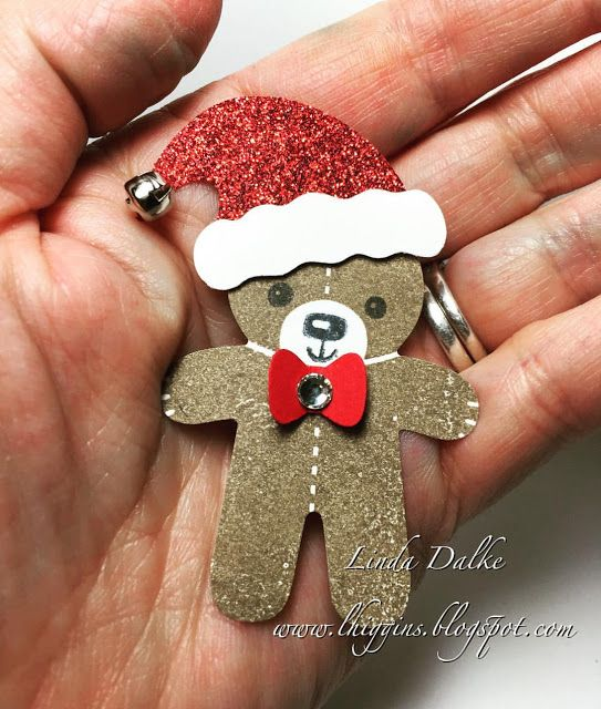 Christmas Teddy with punches from Stampin'Up! | Linda Higgins | Bloglovin'