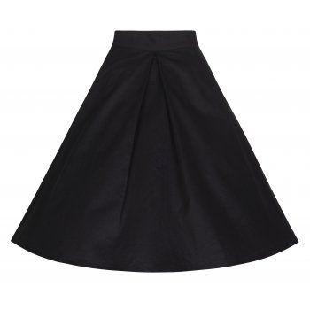 Ruthy Black Flared Jive Skirt | Vintage Inspired Fashion - Lindy Bop
