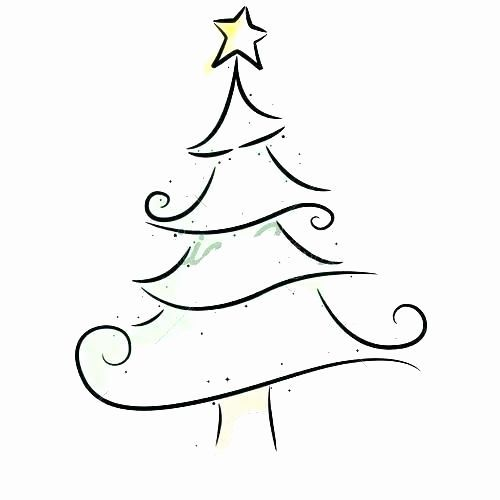 Easy Christmas Tree Coloring Pages Lovely Easy To Draw Christmas