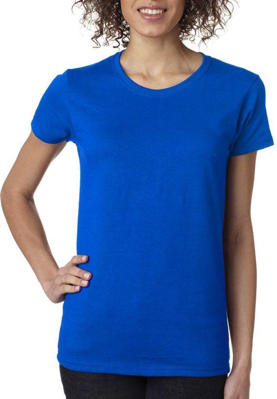 gildan(R) heavy cotton? ladies' t-shirt - neon blue (s)