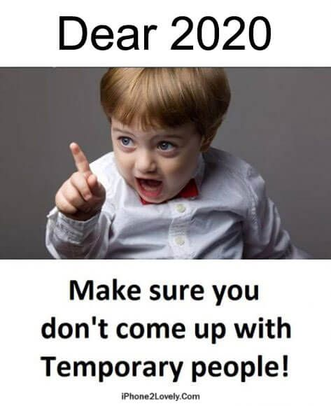 Dear 2020 Funny Meme For New Year