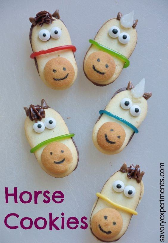 No-Bake Horse Cookies are a simple way to be festive for the Kentucky Derby or Preakness!: