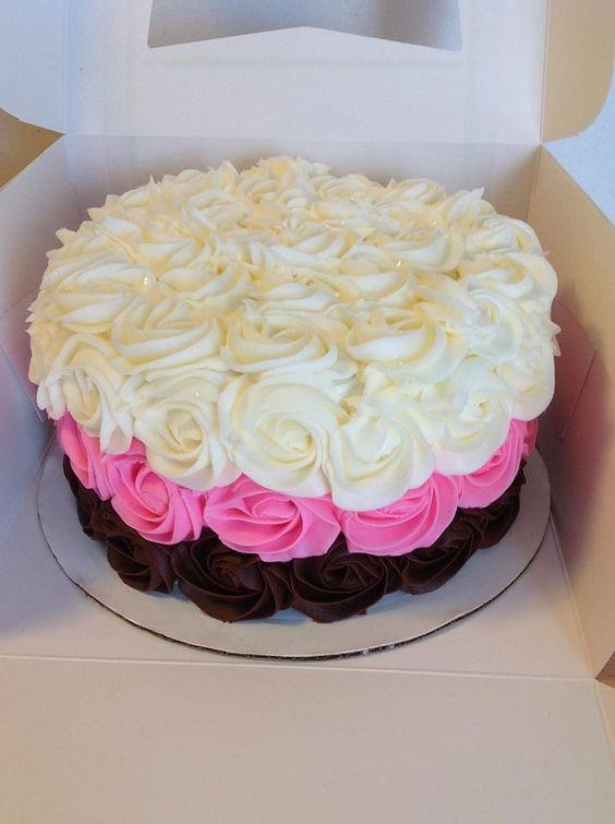 rose swirl cake design Cakes Pinterest Rose swirl ...