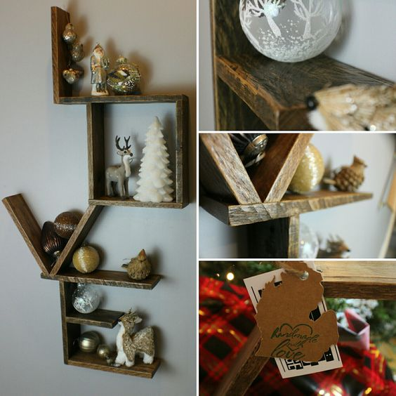 Decking out the love shelf for Christmas.