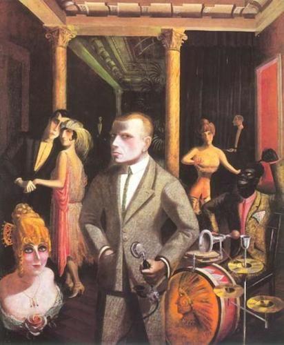 """Otto Dix, """"An die Schönheit"""", 1922 #cabaret #Kabarett #OttoDix #painting #drummer"""