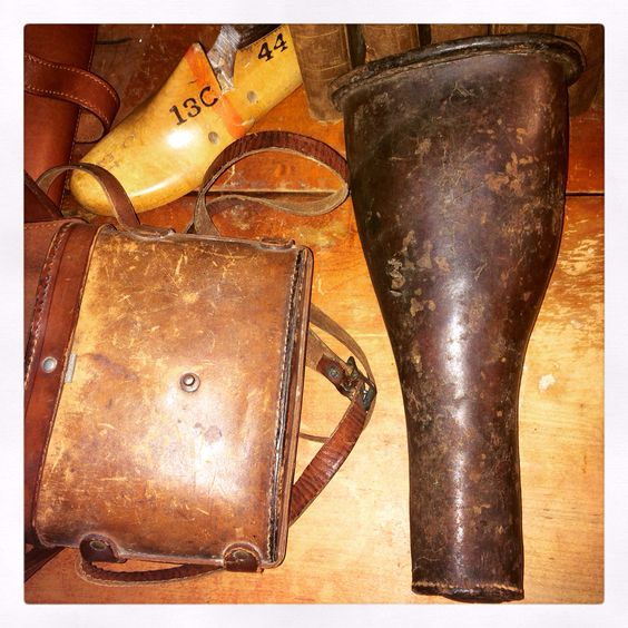 Original 18th Century Revolutionary War Era Saddle Pistol Holster Pistol Holster Antique Shops Flea Market