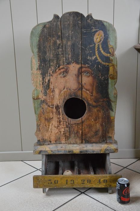 Online veilinghuis Catawiki: Kermis-spel van hout - Mange boulles - Frankrijk - ca. 1900