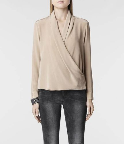 Images of Silk Wrap Blouse - Reikian