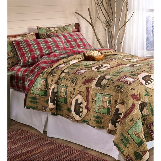 King Northwoods Lodge Quilt Set   Collection Accessories