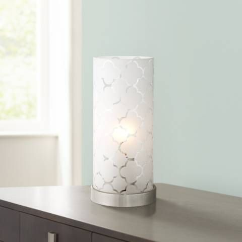 Babette 11 High White Glass Cylinder Accent Lamp 2d559 Lamps