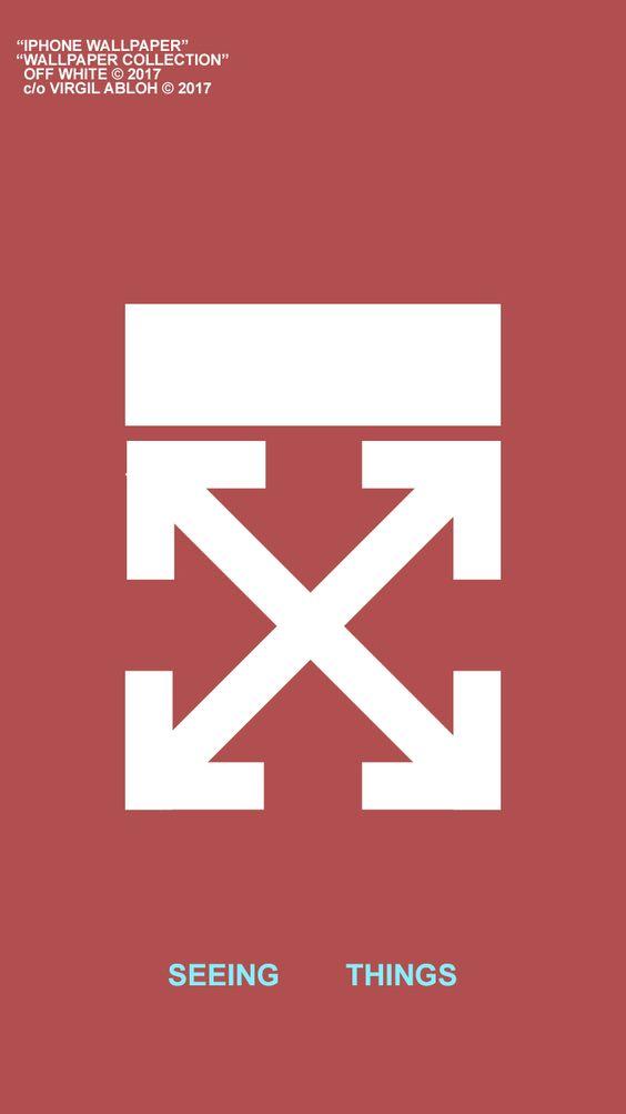 OFF-WHITE赤壁紙