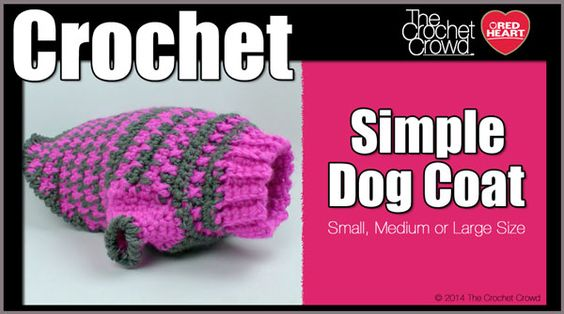 Crochet Simple Dog Coat Sweater Pattern With Video