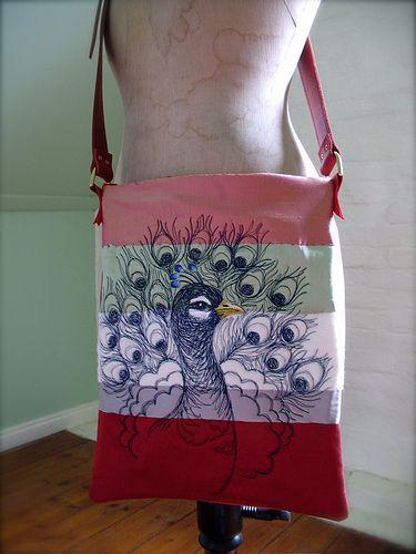 Tara Badcock PARIS+TASMANIA, Fancy Peacock shoulder bag Oct 2010