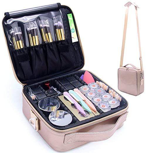 Monstina Makeup Travel Case Makeup Bag Train Case Make Up Organizers Professional Travel Cosmetic Brush Stora Makeup Travel Case Makeup Bags Travel Makeup Bag